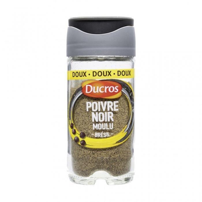 Ducros Poivre Noir Moulu Brésil Doux avec Opercule Fraîcheur 32g (lot de 3)