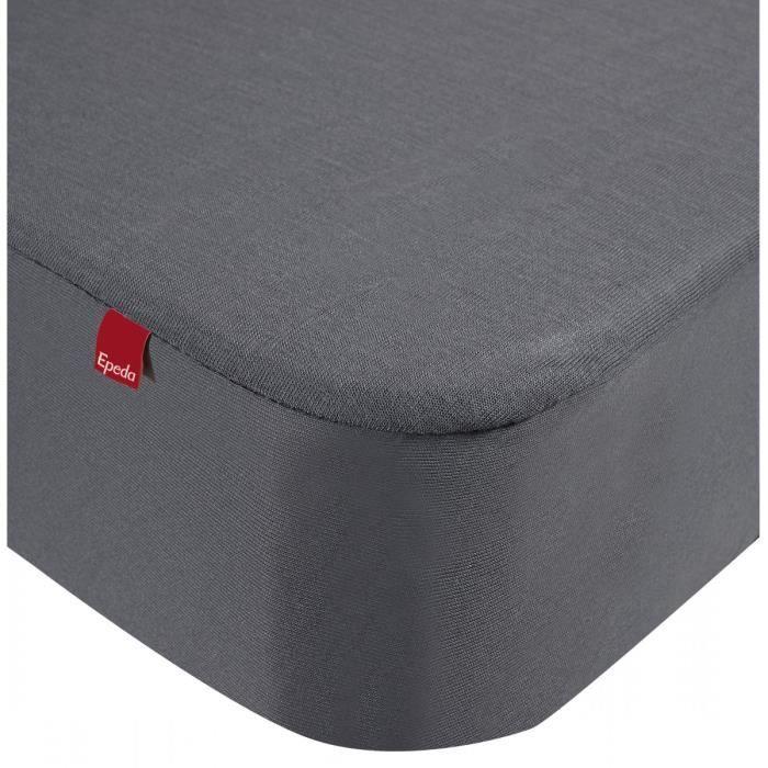 Drap housse Epeda 2 en 1 gris 80x190