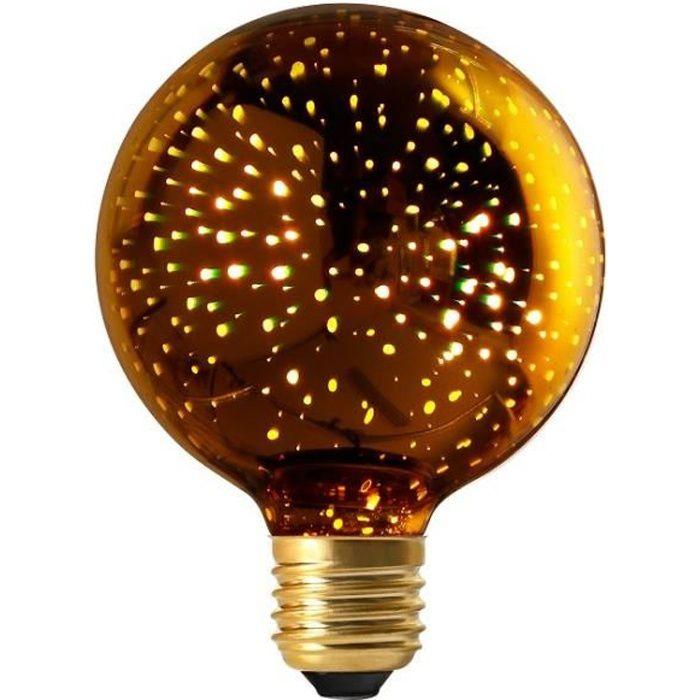 Ampoule Globe G95 'Cosmos' LED 4W E27 - Or