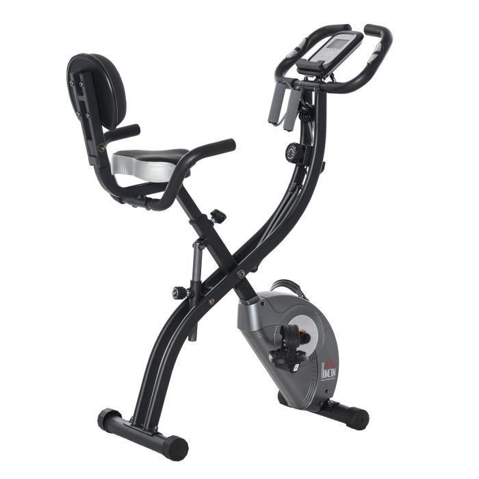 Vélo d'appartement cardio Fit 107x53x107cm Noir