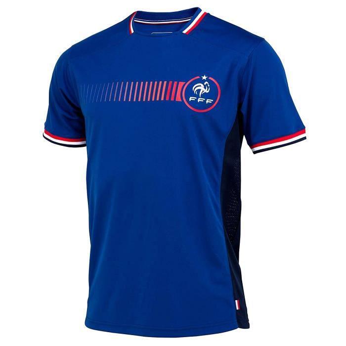 Maillot de Foot Homme Équipe de France Officiel - Bleu (L)
