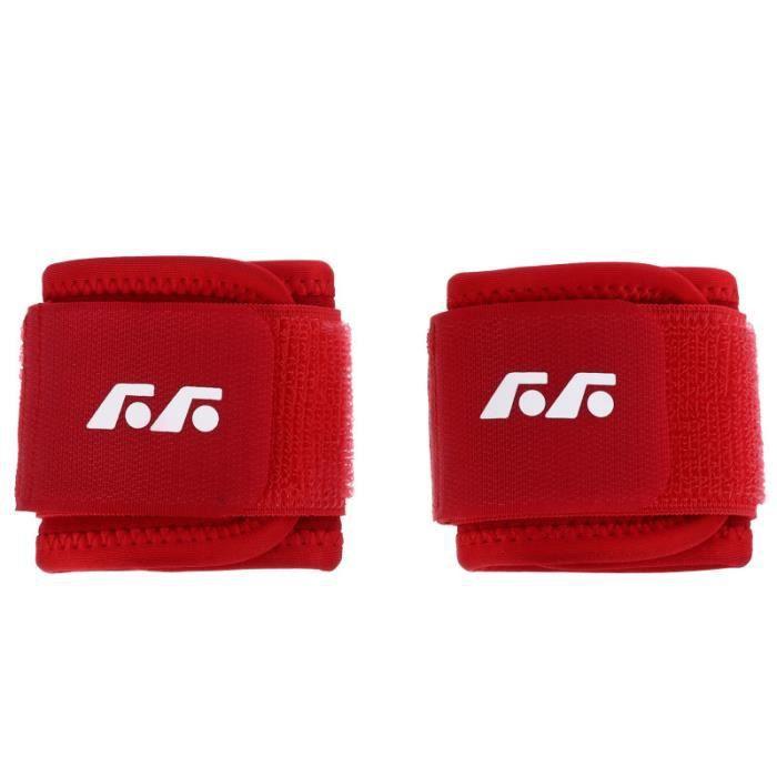1 paire Bracelet Doux Réglable Coffre-Fort Agréable Fitness Brassard de de manchon de bras textile technique
