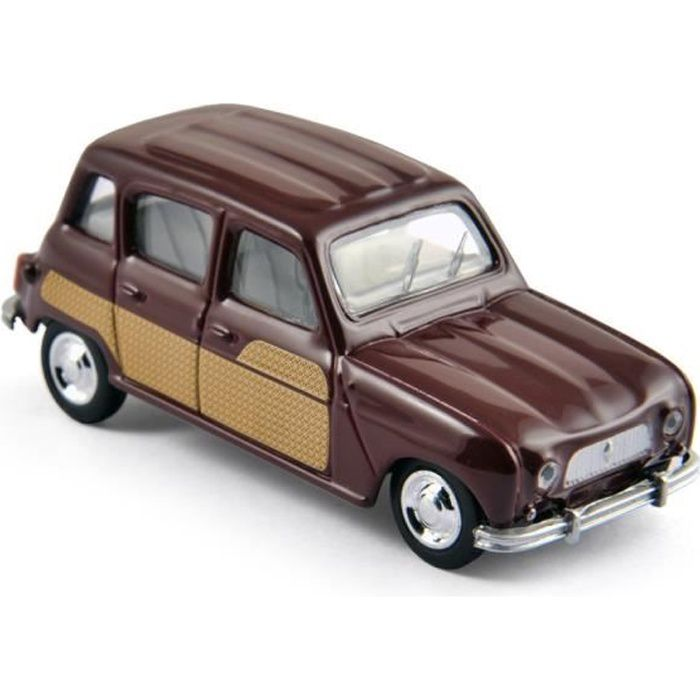 Miniatures montées - Renault 4L Parisienne bordeaux - échelle 3- 1966 Norev