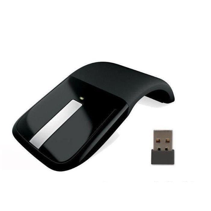 MICROSOFT Arc Touch Mouse - Souris optique - 2 boutons - Sans fil - Récepteur USB - Noir