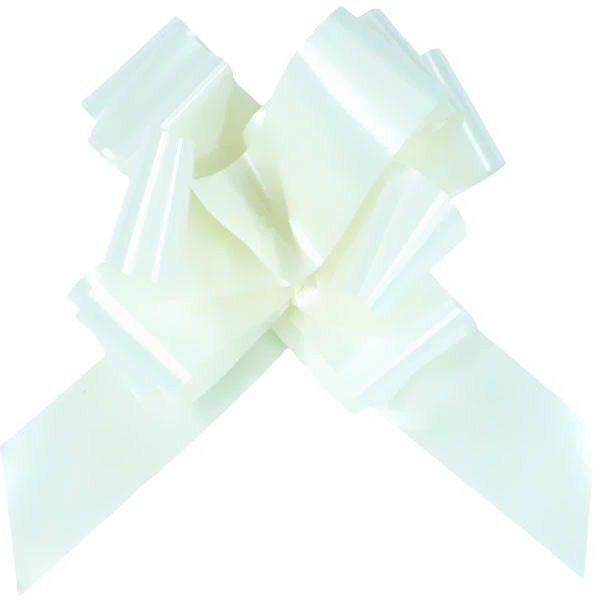 10 NOEUDS AUTOMATIQUES BLANC 50 MM Blanc