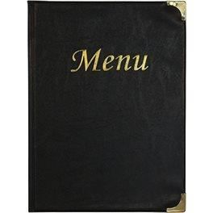 Protège menu basique A4 noir -