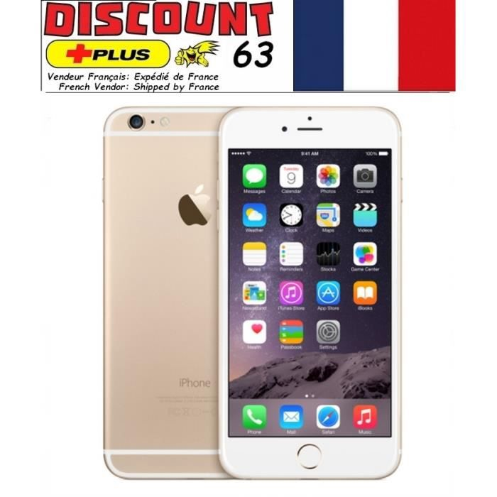 iphone 6 64gb gold or d bloqu achat smartphone pas cher. Black Bedroom Furniture Sets. Home Design Ideas