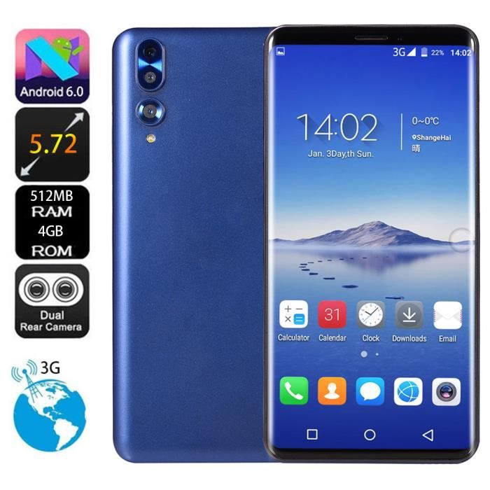 SMARTPHONE Double HD 5,72 pouces Caméra Smartphone Android 6.