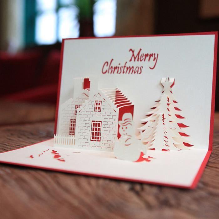 Joyeux Noël cartes 3D de mariage d'amant Joyeux anniversaire