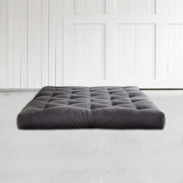 matelas futon polybasica 140x200 gris achat vente. Black Bedroom Furniture Sets. Home Design Ideas