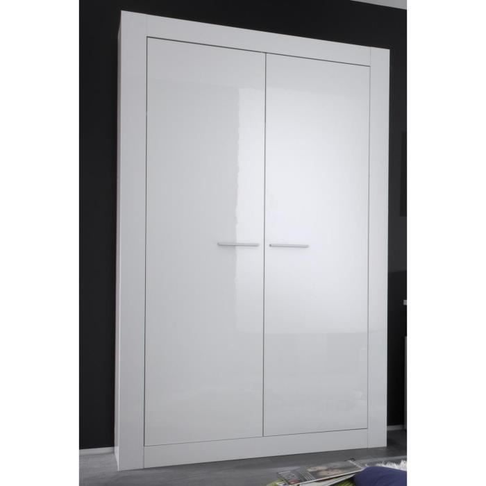 armoire 2 portes battantes blanc laqu fimal ar1 achat vente armoire de chambre armoire 2. Black Bedroom Furniture Sets. Home Design Ideas