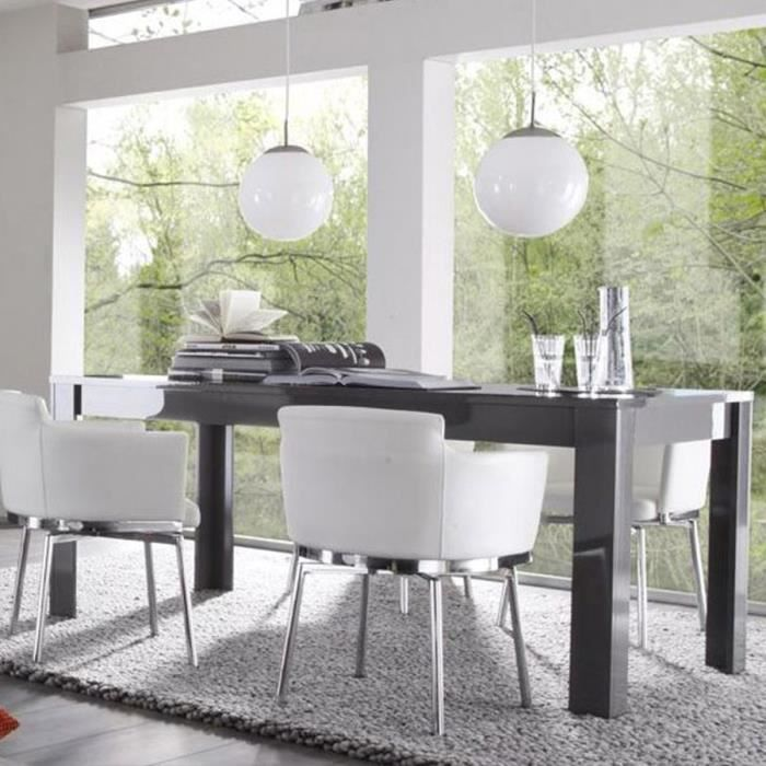 Genial Table A Manger Gris Laque