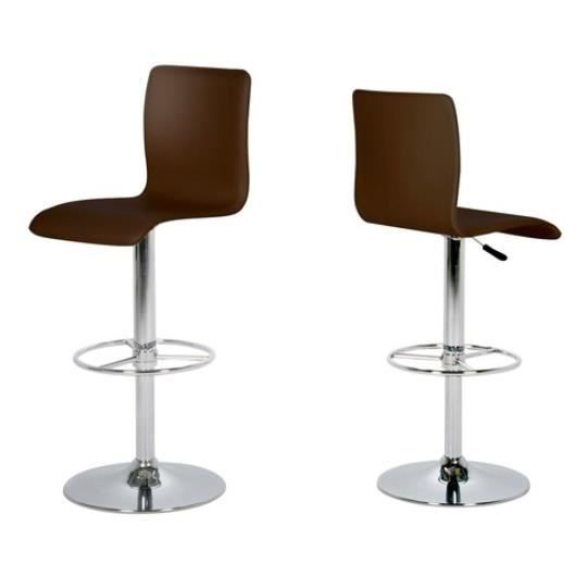 tabouret de bar dallas en simili cuir achat vente. Black Bedroom Furniture Sets. Home Design Ideas