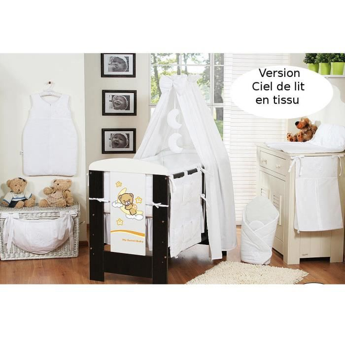 ciel de lit b b en tissu blanc achat vente ciel de. Black Bedroom Furniture Sets. Home Design Ideas