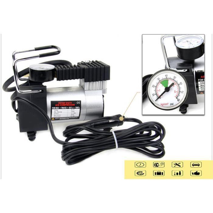 COMPRESSEUR 12V Pompe portative de compresseur d'air, gonfleur de