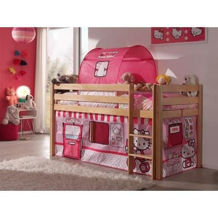 forrest lit enfant sur lev bois hello kitty achat vente lit mezzanine forrest lit hello. Black Bedroom Furniture Sets. Home Design Ideas