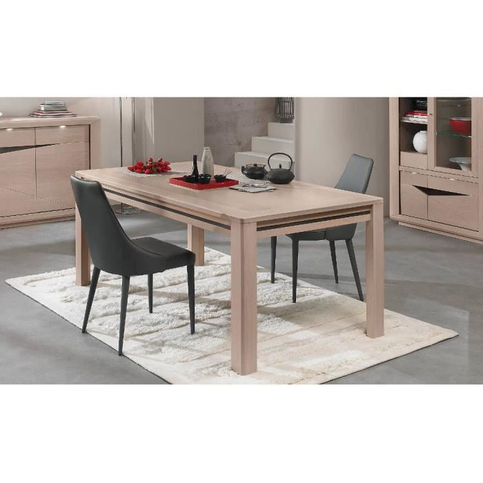 Table haute l 160 macao ch ne naturel achat vente for Table haute a manger