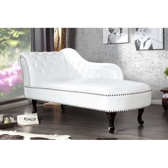 m ridienne baroque blanche blanc achat vente canap sofa divan cdiscount. Black Bedroom Furniture Sets. Home Design Ideas
