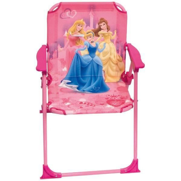 chaise pliante enfant plage jardin princesses disney filles cendrillon belle aurore rose achat. Black Bedroom Furniture Sets. Home Design Ideas