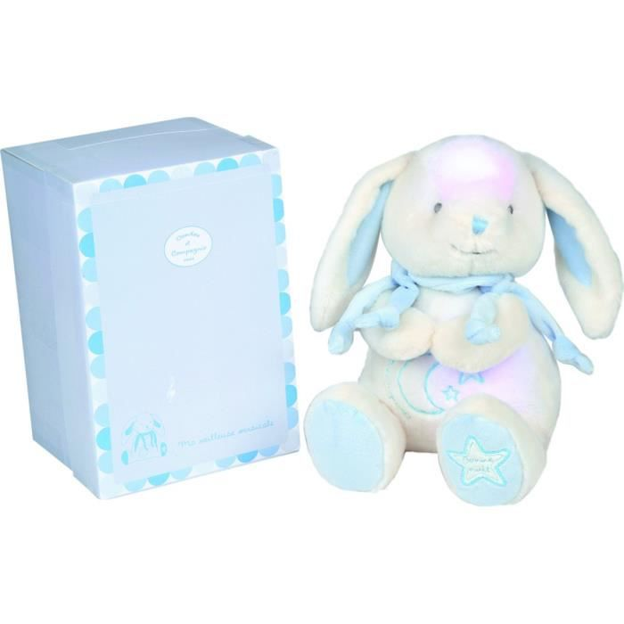 lapin bonbon veilleuse musicale bleu bleu achat vente veilleuse b b 3700335225051 cdiscount. Black Bedroom Furniture Sets. Home Design Ideas