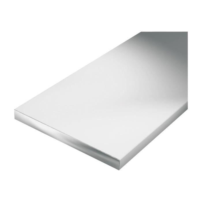 Profil/é plat 1000 x 30 x 2 mm anodis/ée couleur argent aluminium