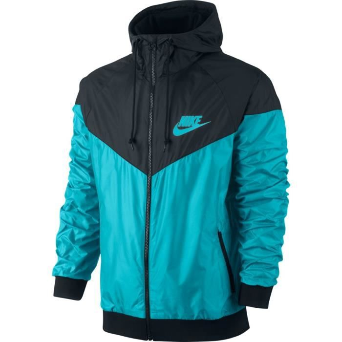 veste nike windrunner bleu bleu achat vente veste de sport soldes cdiscount. Black Bedroom Furniture Sets. Home Design Ideas