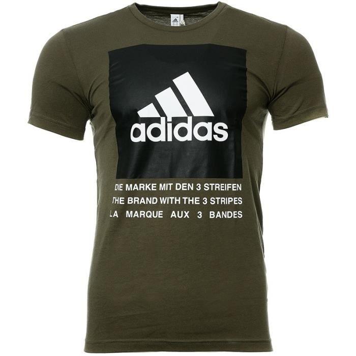 T-SHIRT MAILLOT DE SPORT Tee-shirt Kaki Homme  Adidas QQr Box