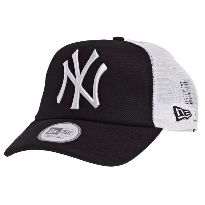new era trucker casquette new york yankees noir noir achat vente casquette 0886133797051. Black Bedroom Furniture Sets. Home Design Ideas