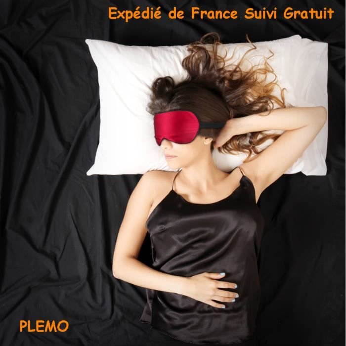 plemo masque de sommeil 100 pure soie occultant l ger ultra douce pour dormir sur le c t ou. Black Bedroom Furniture Sets. Home Design Ideas