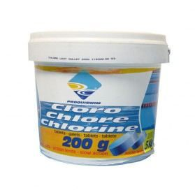 Galet chlore lent 5 kg achat vente traitement de l for Concentration chlore piscine