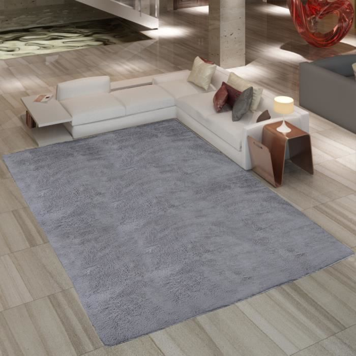 tapis poils long touffu gris 120 x 170 cm 2600g m2 achat. Black Bedroom Furniture Sets. Home Design Ideas