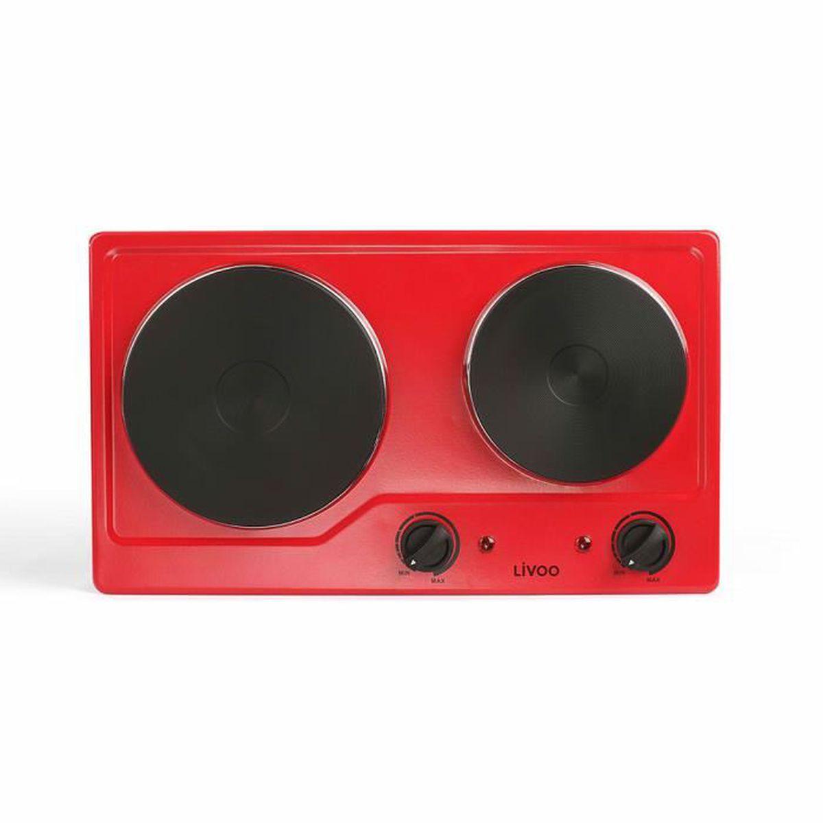 Demonter Plaque De Cuisson Electrique plaque de cuisson double électrique domoclip doc168r rouge