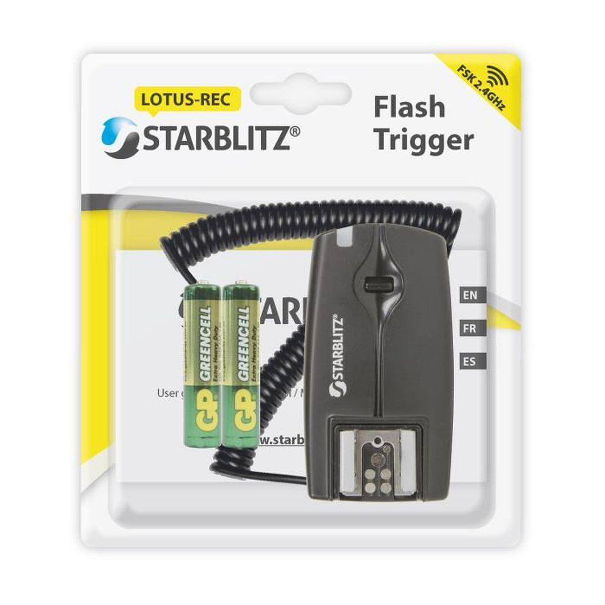 Starblitz Lotus-REC R/écepteur de Flash Noir