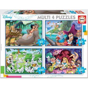 PUZZLE EDUCA - puzzle multi 4 in 1 classiques Disney