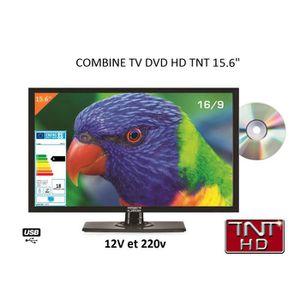 Téléviseur pour véhicule Télévision TV HD LED DVD 39,6 CM pour camping car