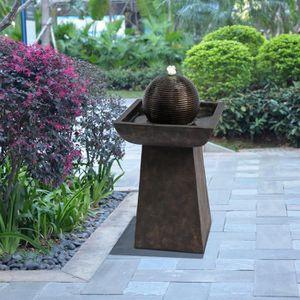 FONTAINE DE JARDIN Fontaine de jardin d'extérieur piédestal sphère et