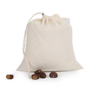 Lot de 10 Sac de Rangement avec Cordon - Sacs de Course R/éutilisable Ecologiques Biod/égradables BELLE VOUS Sac Coton Sacs en Tissu Coton Bio Sac Fruits et L/égumes R/éutilisable 30cm X 20cm