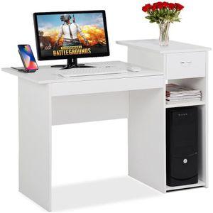 MEUBLE INFORMATIQUE Bureau Informatique 1 tiroir et 2 étagères Table I