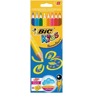 CRAYON DE COULEUR 8 crayons de Couleur BIC Kids SOFT