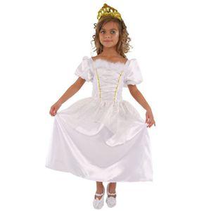 DÉGUISEMENT - PANOPLIE CESAR - C692 - Robe princesse Blanche - 5 / 7 ans