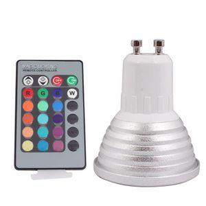 AMPOULE - LED Ampoule Spot LED 10x GU10 3W 16 Couleurs Changeabl