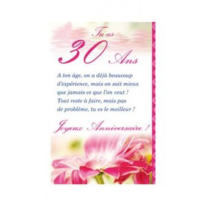 carte anniversaire 30 ans achat vente carte carte de visite carte anniversaire 30 ans. Black Bedroom Furniture Sets. Home Design Ideas