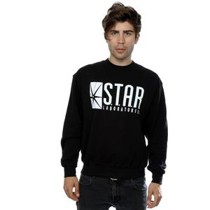 Comics Shirt Achat Noir Sweat Homme Labs Flash Dc Star The DHI2EYeW9