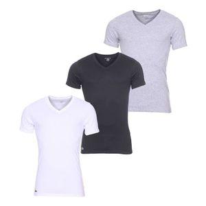 T-SHIRT Lot de 3 tee-shirts col V Essentials Lacoste 100%