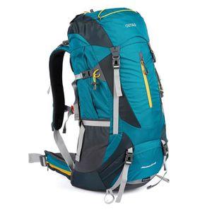 SAC À DOS DE RANDONNÉE 60+5L Sac à Dos Sac Sport de Randonnée Trekking Un