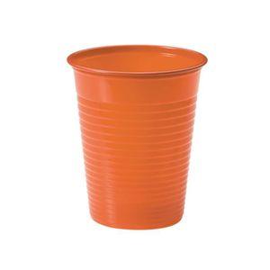 VERRE JETABLE Lot de 25 gobelets en plastique orange