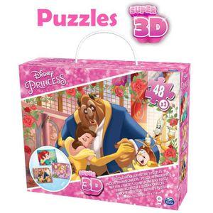 PUZZLE DISNEY PRINCESSES Coffret de 3 Puzzles de 48 pièce
