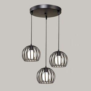 LUSTRE ET SUSPENSION STOEX E27 Lustre Industriel Disque 3 lampes Suspen