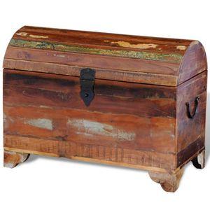 COFFRE - MALLE Coffre de stockage meuble de rangement multicolore