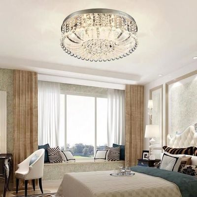 LED K9 Cristal Plafonnier E27 60W Diamant style Lustre 10PCS Pour Salon  Chambre à coucher Salle à manger,peluche et lumineuse